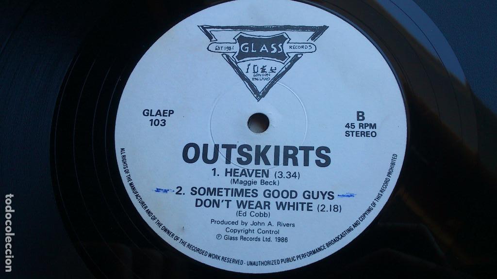 Discos de vinilo: OUTSKIRTS - DOWN - 1986 - EP - GLASS RECORDS - Foto 5 - 132694542