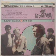 Discos de vinilo: MAXI - LOS ELEGANTES - SOY TREMENDO/LUISA SE VA/DISPARARE/VEN,SALTA - ZAFIRO SP-45-14 - 1985 - PROMO. Lote 132698518