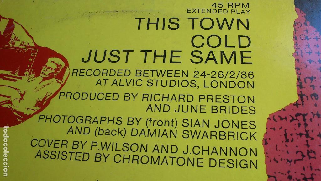 Discos de vinilo: THE JUNE BRIDES - THIS TOWN - 1986 - EP - Foto 10 - 132698550