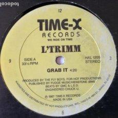 Discos de vinilo: L'TRIMM - GRAB IT - 1987. Lote 132706510