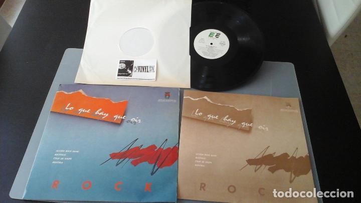 LO QUE HAY QUE OIR - ROCK LP ACCION ROCK BAND, BUCÉFALO, COUP DE SOUPE, MENTIRA (Música - Discos - LP Vinilo - Grupos Españoles de los 70 y 80)