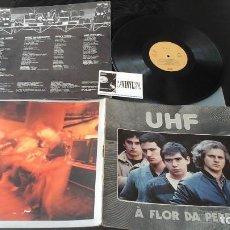 Discos de vinilo: UHF – À FLOR DA PELE LP EMI – 11C 076 - ROCK PORTUGUÉS. Lote 132707990