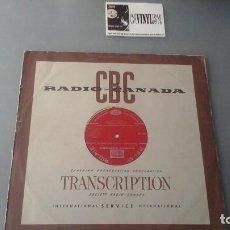 Discos de vinilo: LP RADIO CANADA - TRANSCRIPCIÓN CON FOLK CANADIENSE - BUD SPENCER, ERNIE PRENCITE, REG GIBSON...... Lote 132717282