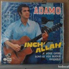 Discos de vinilo: ** ADAMO - INCH' ALLAH / JE VOUS OFFRE / SONT-CE VOS BIJOUX / ENSEMBLE - EP AÑO 1967 - PROMOCIÓN . Lote 132717714