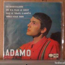 Discos de vinilo: ** ADAMO - EN BANDOULIERE + 3 - EP AÑO 1966 - PROMOCIÓN . Lote 132718050