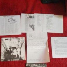 Discos de vinilo: SEGUNDO BANANA CARPETA PRESENTACIÓN 1992 DADAS LAS CIRCUNSTANCIAS. Lote 132720930