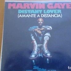 Discos de vinilo: MARVIN GAYE DISTANT LOVER AMANTE A DISTANCIA SINGLE SPAIN 1974. Lote 132722706