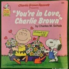 Discos de vinilo: CHARLIE BROWN: DISCO U.S.A - NUEVO CON LIBRETO Y RARO DE VER- OPORTUNIDAD. Lote 132738478