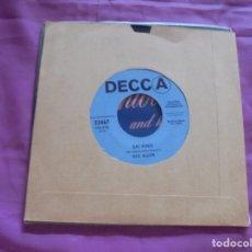 Discos de vinilo: REX ALLEN. SAI FINIS / IT HAPPENS OVER AND OVER AGAIN. DECCA, 1969. EDT. U.S.A. . Lote 132738802