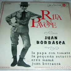 Discos de vinilo: RITA PAVONE – JUAN BORRASCA + 3- EP 1965. Lote 132738902