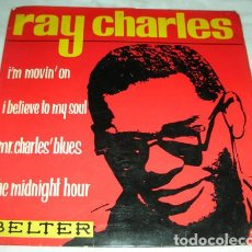 Discos de vinilo: RAY CHARLES – I'M MOVING ON + 3 - EP. Lote 132745890