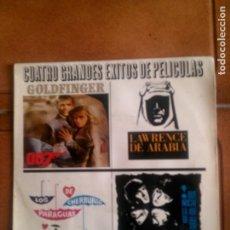 Discos de vinilo: DISCO CUATRO GRANDES EXITOS DE PELICULAS. Lote 132750314