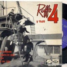 Discos de vinilo: RUFFO Y SUS 4: BEATLES- POP ESPAÑOL IMPOSIBLE DE ENCONTRAR-1964 ROCK. Lote 132752818