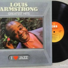 Discos de vinilo: LOUIS ARMSTRONG GREATEST HITS LP VINYL MADE IN SPAIN 1983. Lote 132755066