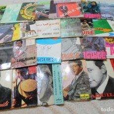 Discos de vinilo: LOTE 26 SINGLES Y EP'S LUIS AGUILE. Lote 132761790