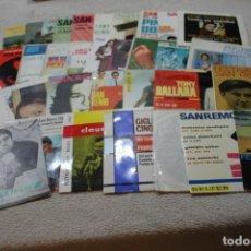 Discos de vinilo: LOTE 35 SINGLES Y EP'S SANREMO SAN REMO DOMENICO MODUGNO CLAUDIO VILLA ADRIANO CELENTANO MILVA. Lote 132762802