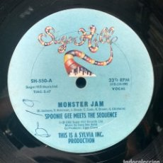 Discos de vinilo: SPOONIE GEE MEETS THE SEQUENCE - MONSTER JAM. Lote 132766834