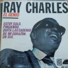 Discos de vinilo: RAY CHARLES EL GENIO ESTOY SOLO EP SPAIN 1962. Lote 132769198