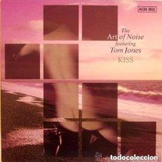 Discos de vinilo: ART OF NOISE FEATURING TOM JONES - KISS (AON MIX) - MAXI-SINGLE SPAIN 1988. Lote 132772386