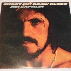 Discos de vinilo: JIM CAPALDI ''EX-TRAFFIC'' ( SHORT CUT DRAW BLOOD ) ENGLAND - 1975 LP33 ISLAND RECORDS. Lote 132778618