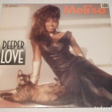Discos de vinilo: MELI'SA MORGAN ( DEEPER LOVE EXTENDED REMIX - SINGLE VERSION - DUB ) USA-1986 MAXI45 CAPITOL. Lote 132779442
