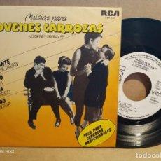 Discos de vinilo: JÓVENES CARROZAS EP ESPAÑOL PROMOCIONAL CON 4 ARTISTAS. Lote 132788438