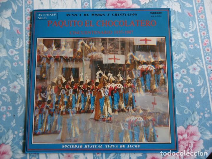 DISCO DE VINILO PAQUITO EL CHOCOLATERO CINCUENTENARIO 1937-1987 MUSICA DE MOROS Y CRISTIANOS,ALCOY (Música - Discos - LP Vinilo - Orquestas)