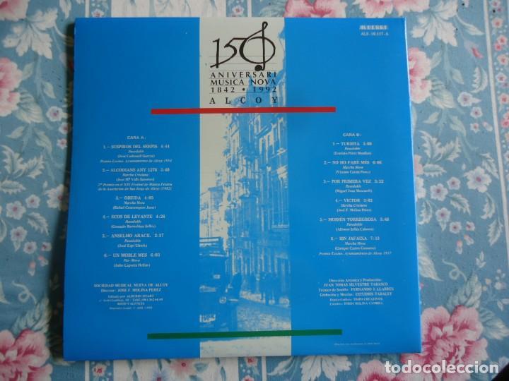 Discos de vinilo: disco de vinilo la nostra festa musica de moros y cristianos sociedad musical nueva de Alcoy 1992 - Foto 2 - 132789250