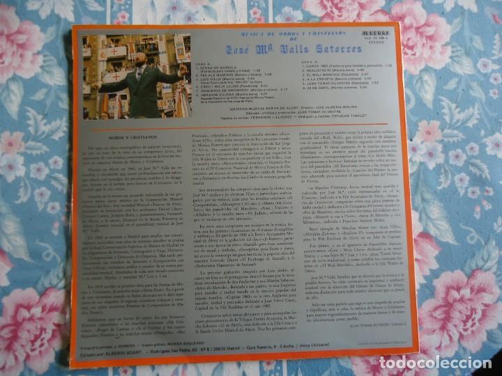 Discos de vinilo: disco de vinilo musica de moros y cristianos de Alcoy de José M Valls Satorres,ja baixen vol 5 1983 - Foto 2 - 132789470