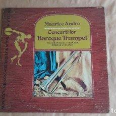 Discos de vinilo: MAURICE ANDRÉ CONCERTI FOR BAROQUE TRUMPET (USA 1973) BARROCO TROMPETA. BUEN ESTADO. ED. LIMITADA. Lote 132799798