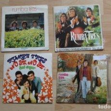 Discos de vinilo: LOTE 4 SINGLES RUMBA TRES. Lote 132799942