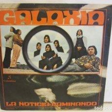 Discos de vinilo: GALAXIA - LA NOTICIA / CAMINANDO - ROCK PROGRESIVO - SINGLE - 1971 - SPAIN - VG+/VG+. Lote 132800714