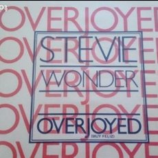 Discos de vinilo: STEVIE WONDER OVERJOYED MUY FELIZ SINGLE SPAIN PROMO. Lote 132804098