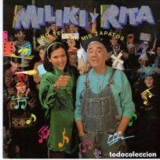 Disques de vinyle: MILIKI Y RITA - NO SE ATAR MIS ZAPATOS + MI ABUELA - SINGLE BMG SPAIN 1991. Lote 132813178