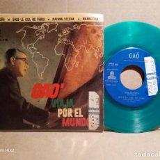 Discos de vinilo: GAO VIAJA POR EL MUNDO EP PICTURE DISC VERDE 1960. Lote 132832502