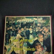 Discos de vinilo: GRAN FESTIVAL DE MÚSICA SELECTA 1961. Lote 132854278