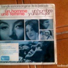 Discos de vinilo: BANDA SONORA DE LA PELICULA UN HOMBRE Y UNA MUJER. Lote 132857262