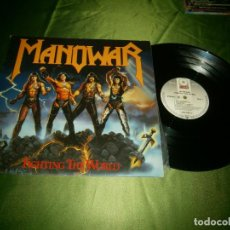 Discos de vinilo: LP MANOWAR FIGHTING THE WORLD 790 563-1 ATLANTIC RECORS 1987. Lote 132877818