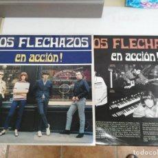 Discos de vinilo: DISCO LP LOS FLECHAZOS EN ACCION. Lote 132879102