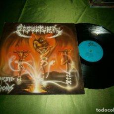 Discos de vinilo: LP SEPULTURA MORBID VISIONS AÑO 1987 SHARK OO4 GERMANY. Lote 132880350