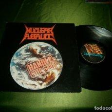 Discos de vinilo: NUCLEAR ASSAULT HANDLE WITH CARE 1989 UK CON ENCARTE. Lote 132917270