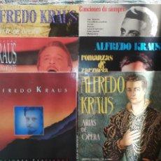 Discos de vinilo: AUTÓGRAFOS ALFREDO KRAUS: 29 LPS Y 9 CAJAS. VARIAS FIRMADAS POR EL PROPIO ALFREDO KRAUS. Lote 132918354