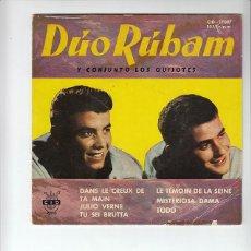 Discos de vinilo: DUO RUBAN: Y LOS QUIJOTES- RARISIMO 6 CANCIONES - 1961 LABEL CID- SUPER PIEZA !!- BEATLES-. Lote 132938990
