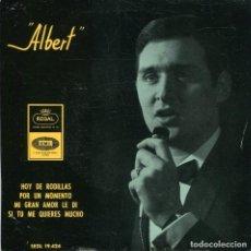 Discos de vinilo: ALBERT / HOY DE RODILLAS / POR UN MOMENTO + 2 (EP 1965). Lote 132970898