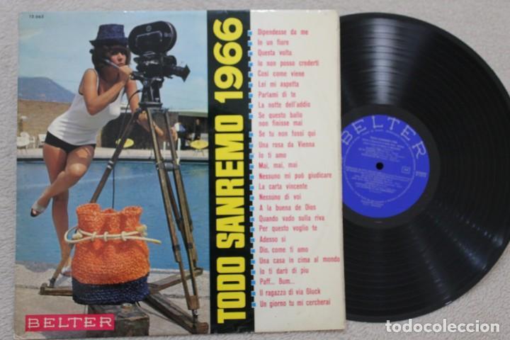 TODO SANREMO 1966 LP VINYL MADE IN SPAIN 1966 (Música - Discos - LP Vinilo - Otros Festivales de la Canción)