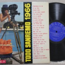 Discos de vinilo: TODO SANREMO 1966 LP VINYL MADE IN SPAIN 1966. Lote 132982050