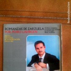 Discos de vinilo: DISCO ROMANZAS DE ZARZUELA POR PEDRO LAVIRGEN VOL ,2 AÑO 1963. Lote 132982250