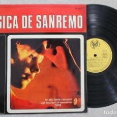 Discos de vinilo: MUSICA DE SANREMO 1968 LP VINYL MADE IN SPAIN 1968. Lote 132986250