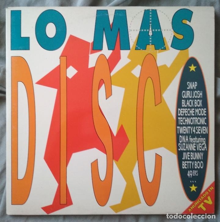 VARIOS ARTISTAS - LO MAS DISCO. DOBLE LP EDICIÓN ESPAÑOLA 1990 (Música - Discos - LP Vinilo - Disco y Dance)