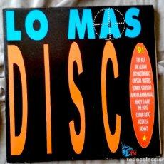 Discos de vinilo: VARIOS ARTISTAS - LO MAS DISCO '91. DOBLE LP EDICIÓN ESPAÑOLA 1991. Lote 132993658